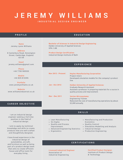 corporate resume template – brianhans.me