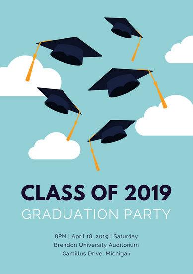 Customize 61 Graduation Poster templates online  Canva