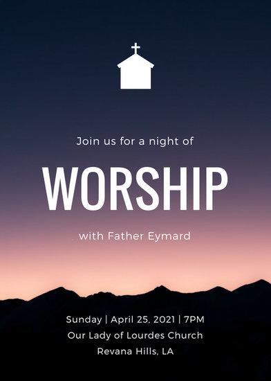 Customize 389 Church Invitation templates online  Canva