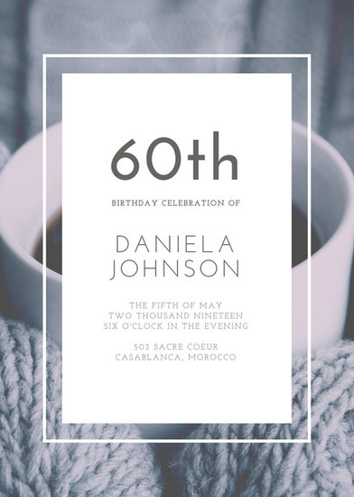 Customize 924 60th Birthday Invitation templates online