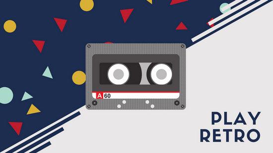 Retro 80s Cassette Tape Desktop Wallpaper  Templates by Canva