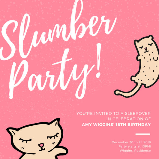 Customize 60 Sleepover Invitation Templates Online Canva
