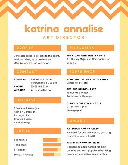 Customize 100 Colorful Resume Templates Online Canva