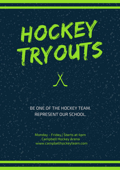 Customize 92 Hockey Poster Templates Online Canva
