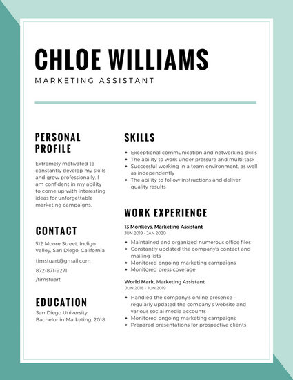 Customize 192 Corporate Resume Templates Online Canva