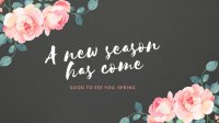 Pink Script Floral Spring Wallpaper - Templates by Canva