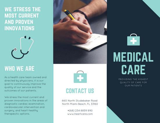 Customize 56 Medical Brochure templates online  Canva