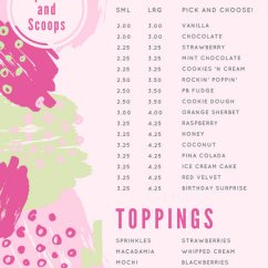 Kitchen Planner Online Centerpiece For Table Customize 885+ Ice Cream Menu Templates - Canva