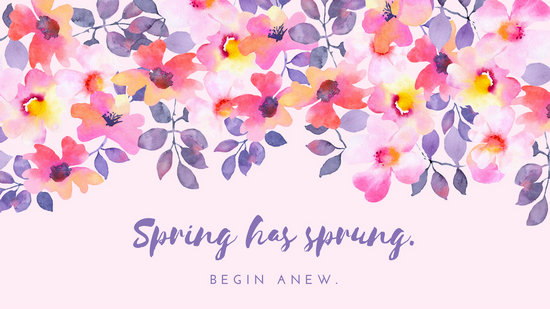 Pink And Blue Spring Desktop Wallpaper Templates By Canva