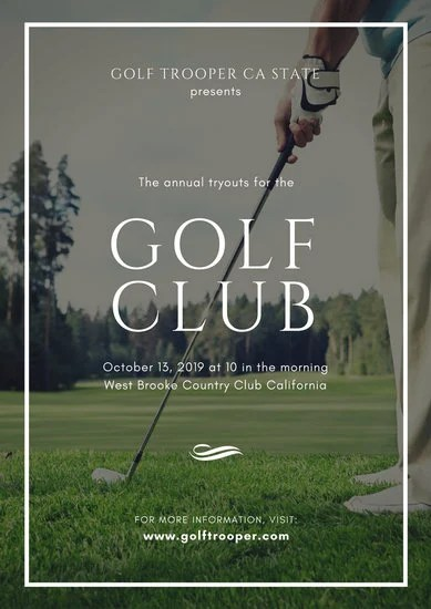 Customize 54 Golf Poster Templates Online Canva