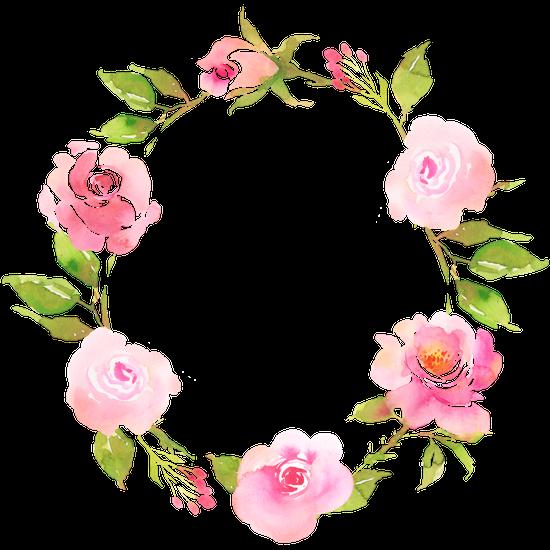 FLower Bohemian Wreath With Roses Decorative Boho