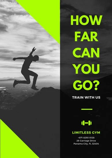 Gym Poster Templates  Canva