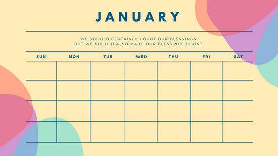 Customize 344+ Calendar templates online - Canva