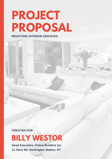 Red And Blue Interior Design Proposal Templates By Canva