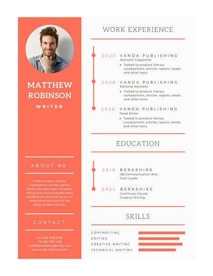 modern vertical design resume template