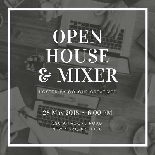 Open House Invitation Templates Canva