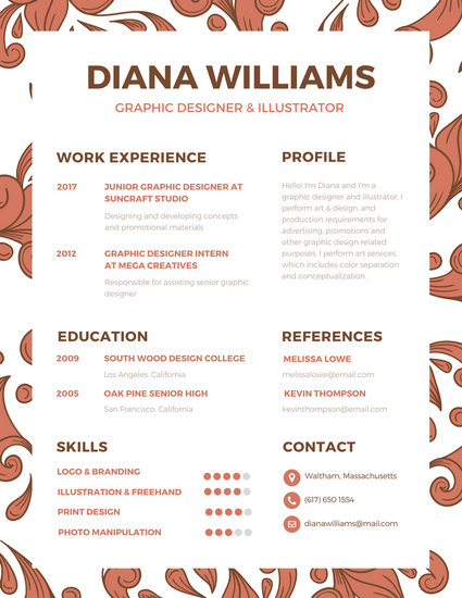 resume visual templates