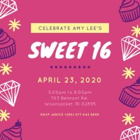 Customize 545+ Sweet 16 Invitation templates online - Canva