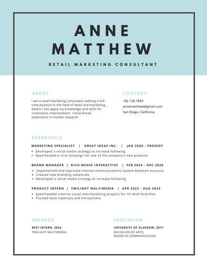 modern resume black header - April.onthemarch.co