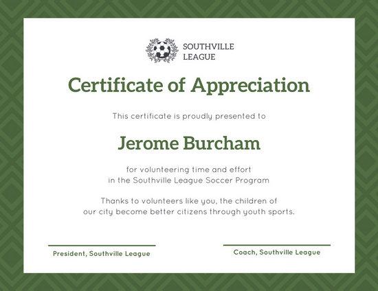 Customize 89 Appreciation Certificate Templates Online