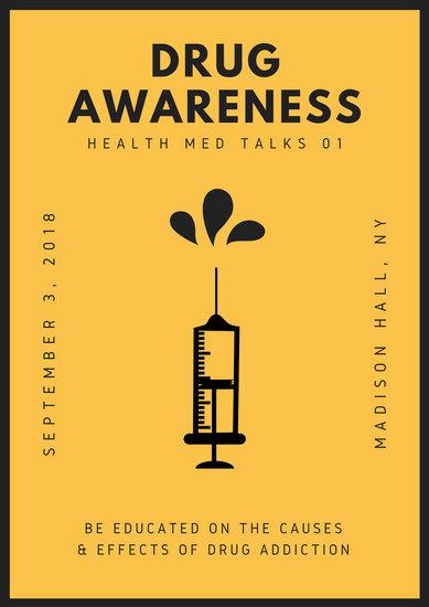 Customize 541 Drug Awareness Poster templates online  Canva