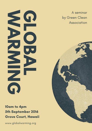 Customize 78 Global Warming Poster templates online  Canva