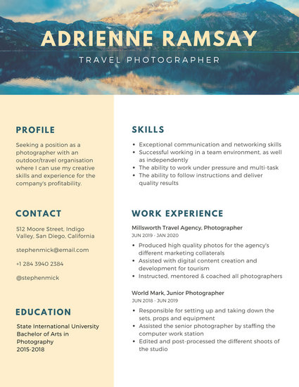resume template blue dots