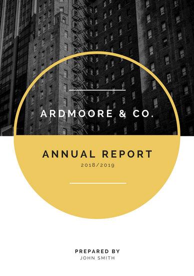 Gold  White Modern Company Corporate Annual Report