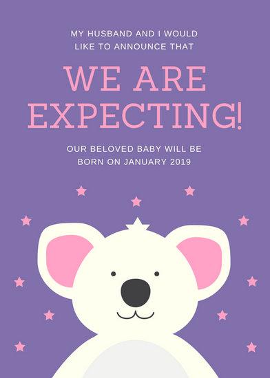 pregnancy announcements templates