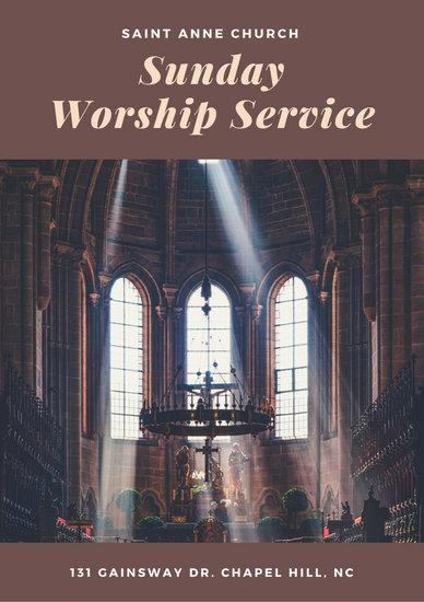 Customize 110+ Church Program templates online - Canva