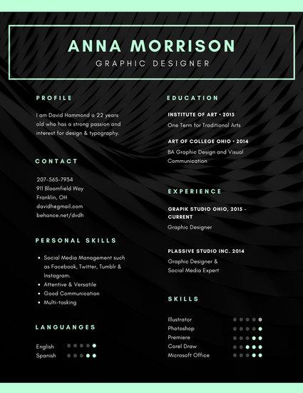 Black Photo Background Minimalist Resume Templates By Canva