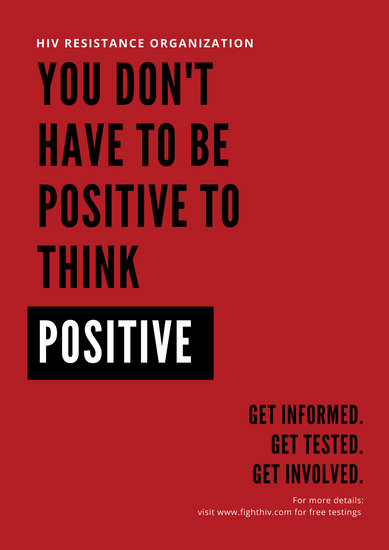 Customize 36 HIV  AIDS Poster templates online  Canva