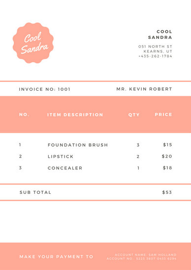 Red Illustrated Shapes Invoice Templates By Canva