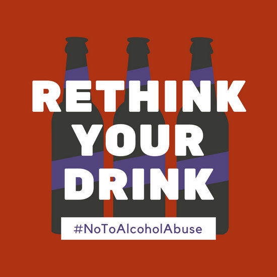Red Alcohol Abuse Awareness Social Media Post  Templates
