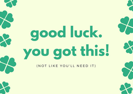 Good Luck Card Templates Canva