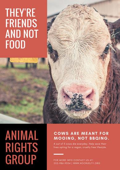 Customize 33 Vegetarian Vegan Poster Templates Online