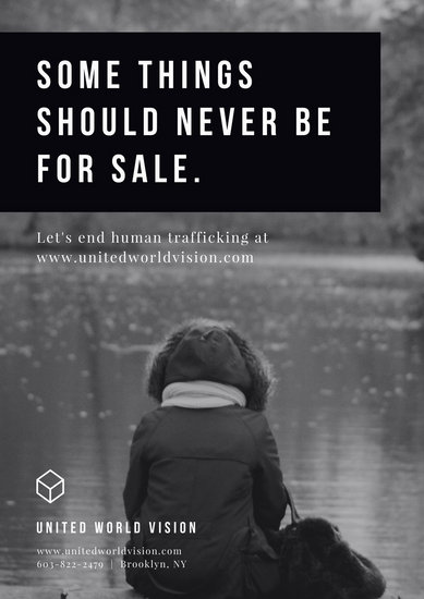 Customize 125 Human Trafficking Poster templates online  Canva