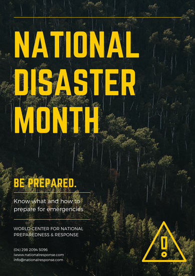 Customize 230 Natural Disaster Emergency Response Poster