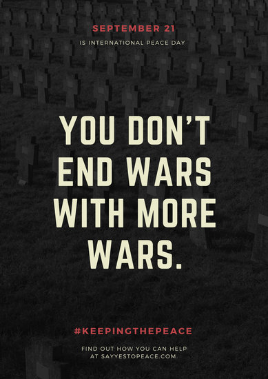 Poverty Wallpapers With Quotes Customize 81 Anti War Poster Templates Online Canva