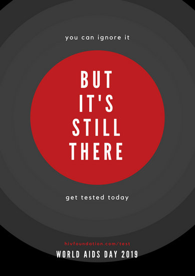 Black Red Circle Minimalist HIV Poster  Templates by Canva