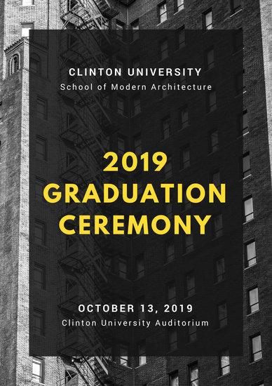 Customize 132 Graduation Program templates online  Canva