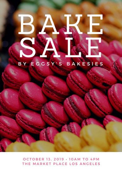 White Amp Black Modern Cookies Bake Sale Flyer Templates