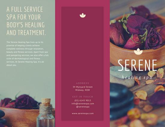Customize 45 Massage Brochure templates online  Canva
