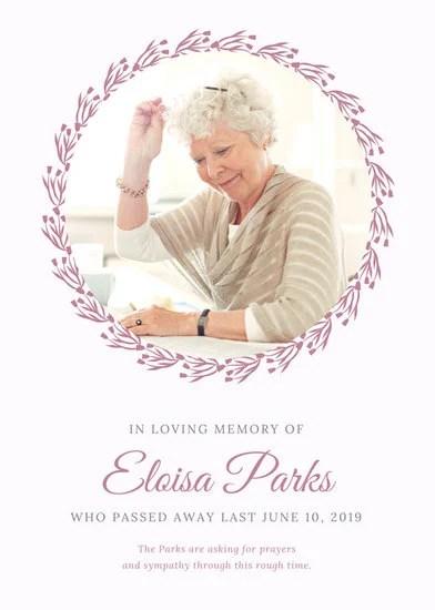 Customize 45 Obituary Announcement Templates Online Canva