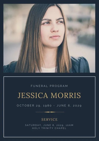 Customize 65 Funeral Program Templates Online Canva