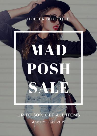 Gray White Border Fashion Sale Retail Flyer  Templates by