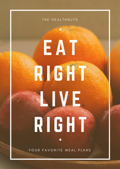Orange and White Fruit Photo Advertising Flyer  Templates by Canva