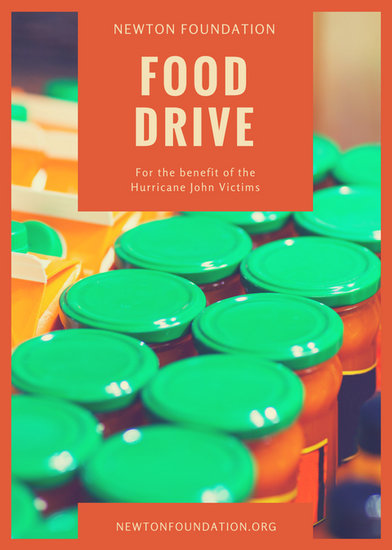 Orange Box Food Drive Flyer  Templates by Canva