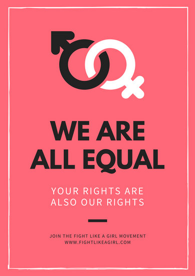 Customize 85 Gender Equality Poster Templates Online Canva