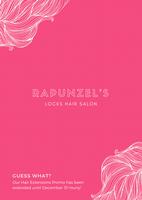 pink girly hair salon flyer - templates